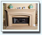Precast fireplace mantle